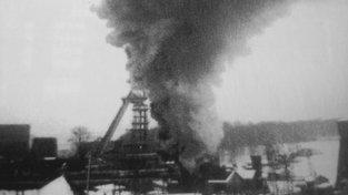Jeden z výbuchů na dole Doubrava