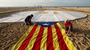 Neoficiální vlajka katalánských separatistů