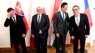 Ministři zahraničí V4 na jednání v roce 2016