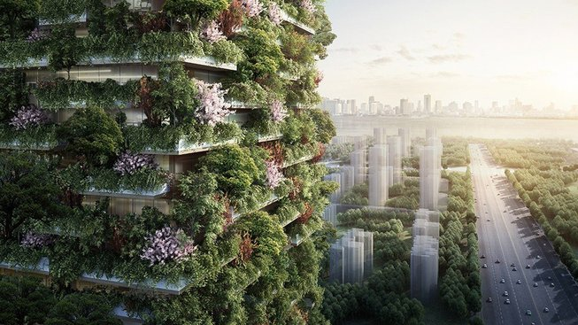Stefano Boeri a jeho tým staví v čínském městě Nanking další vertikální les. A v Číně mají ještě velkolepější plány