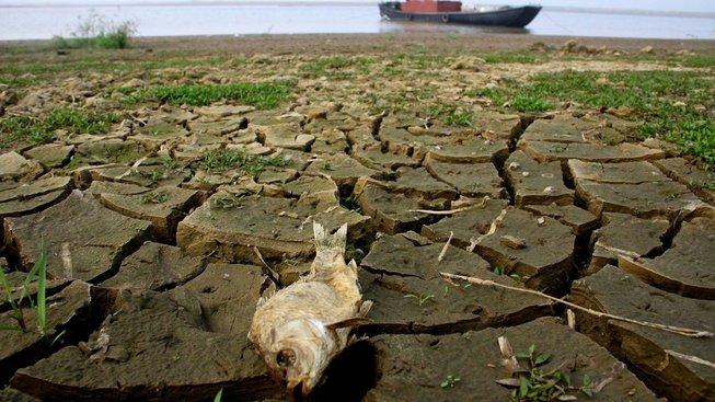 Čínské jezero Pcho-jang vysychá