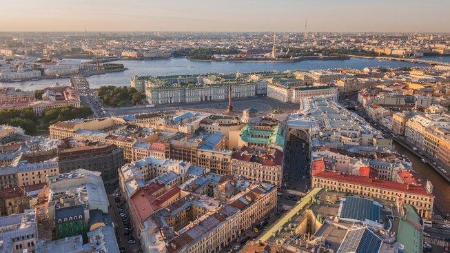 Petrohrad z ptačí perspektivy