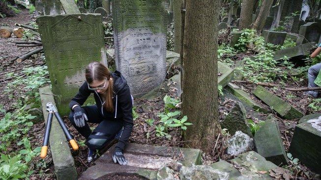 Mladí Evropané jezdí do Varšavy starat se o židovský hřbitov