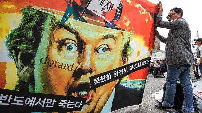Protiváleční aktivisté v Soulu