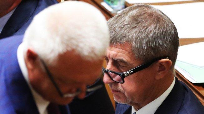 Šéf hnutí ANO Andrej Babiš a místopředseda Jaroslav Faltýnek
