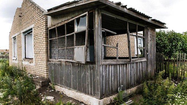 Opuštěný dům ve vesnici