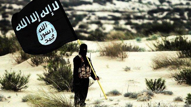 Vlajka Islámského státu. Ilustrační snímek