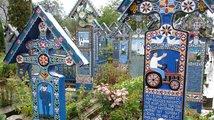 Veselý hřbitov v rumunské vesnici Sapanta