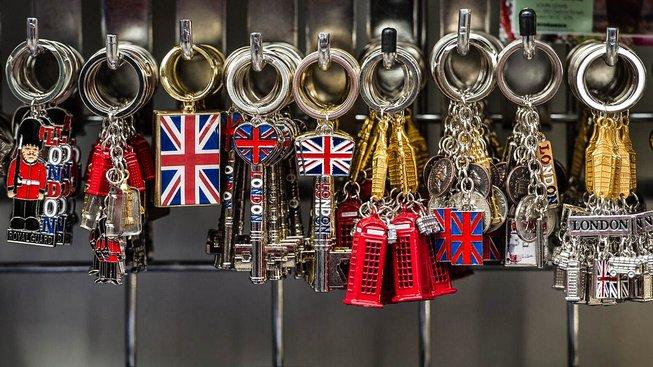 Prodej britských suvenýrů