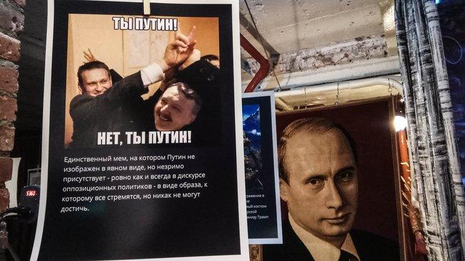 Výstava Putin jako mem