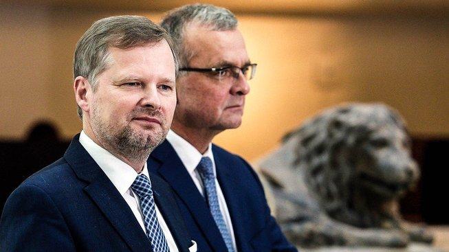 Petr Fiala a Miroslav Kalousek
