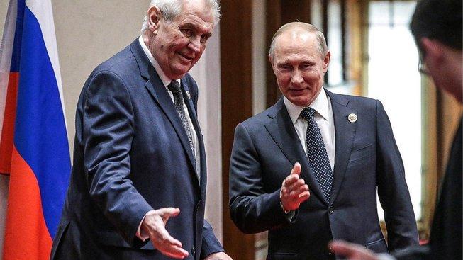 Zeman s ruským vůdcem