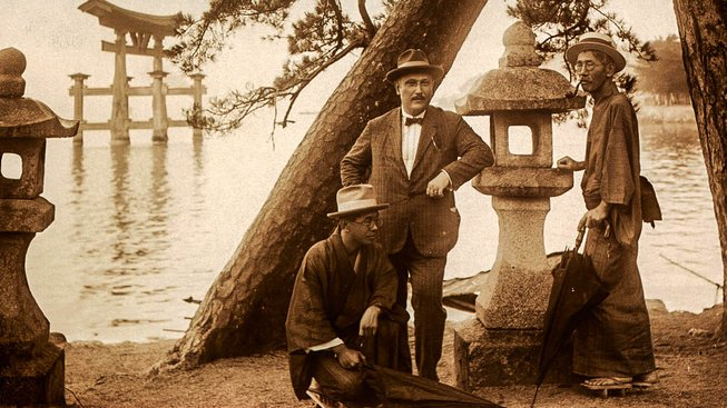 Joe Hloucha během svého pobytu v Japonsku