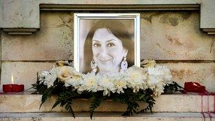 Pieta za zavražděnou maltskou bloggerku Daphne Caruanovou Galiziovou
