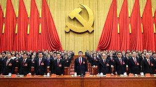 Si Ťin-pching na 19. sjezdu Komunistické strany Číny