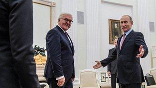 Frank-Walter Steinmeier se v Moskvě sešel s Vladimirem Putinem