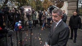 Šéf hnutí ANO Andrej Babiš chce menšinovou vládu, ostatní strany ji odmítají
