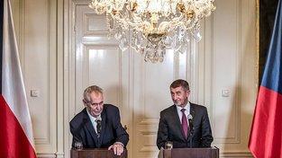 Miloš Zeman a Andrej Babiš v Lánech