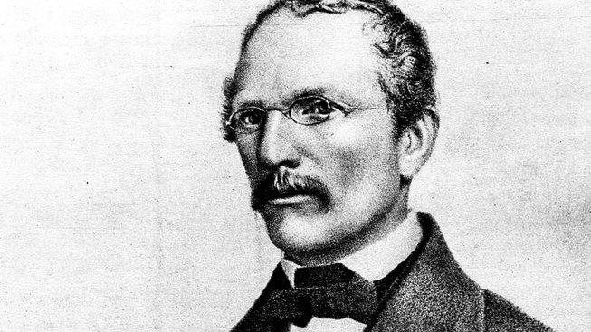 Karel Jaromír Erben na litografii Josefa Farského