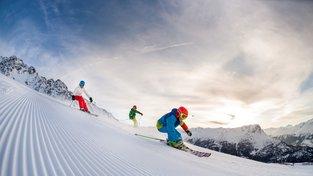 Lyžování na čerstvě upravené sjezdovce © TVB Tiroler Oberland-Nauders - Martin Lugger