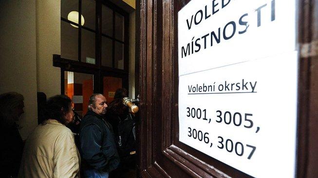 Volební místnost, ilustrační snímek