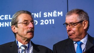 Jiří Hlavatý (vlevo) bude znovu kandidovat na senátora