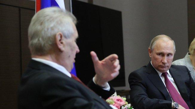 Zeman a Putin během úterního setkání