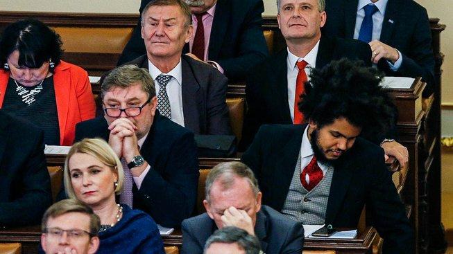 Poslanci na ustavující schůzi Poslanecké sněmovny