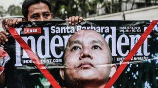 Rohingští muslimové žijící v Malajsii protestují proti Ashinu Wirathuovi