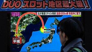Raketa dopadla do Japonského moře, asi 960 kilometrů od místa odpalu