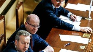 Sobotkova vláda dnes schválila demisi