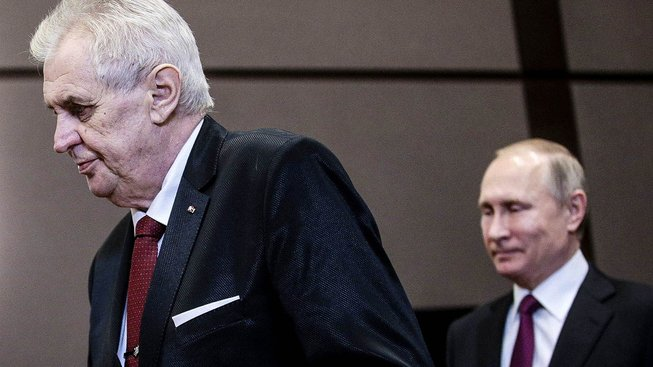 Zeman s Putinem v Rusku