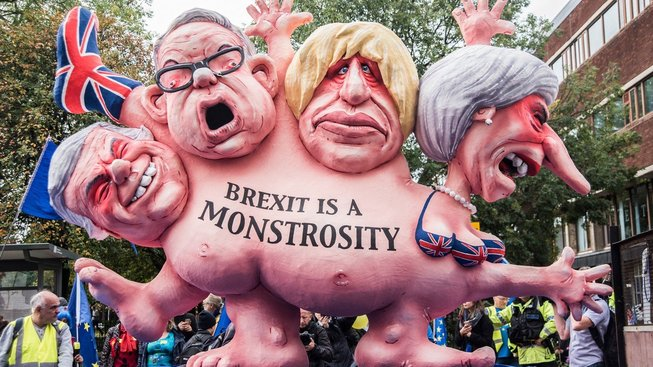 Demonstrace proti brexitu v Manchesteru