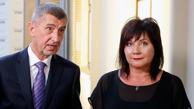 Alena Schillerová, náměstkyně Ministerstva financí ČR s bývalým ministrem financí Andrejem Babišem