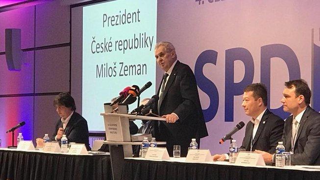 Miloš Zeman na sněmu SPD