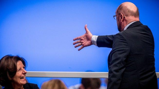 Martin Schulz na sjezdu německé SPD