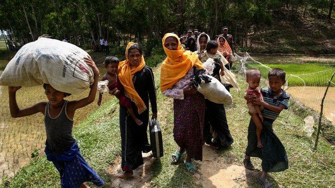 Rohingové na útěku na hranici Barmy a Bangladéše