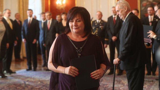 Ministryně financí Alena Schillerová krátce po svém jmenování do funkce