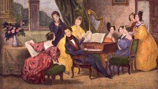 Fryderyk Chopin na litografii Achille Devérii