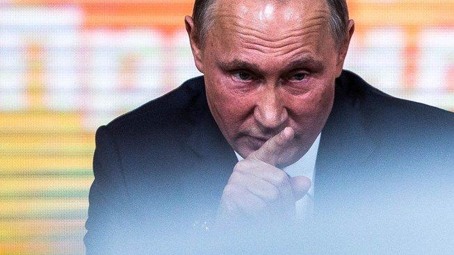 Ruský prezident během tiskové konference