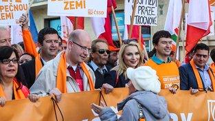 Pochod Prahou za vyšší mzdy, předvolební kampaň ČSSD