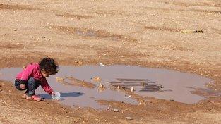 Syrské uprchlické dítě v Jordánsku
