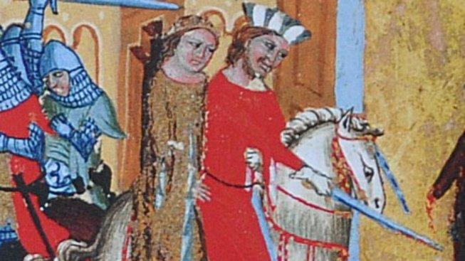 Únos Jitky na iluminaci z Dalimilovy kroniky