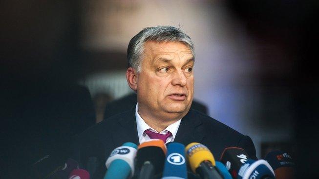 Maďarský premiér Viktor Orbán při své návštěvě Německa