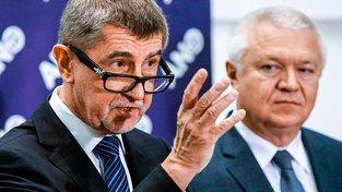 Premiér Andrej Babiš a místopředseda ANO Jaroslav Faltýnek