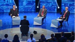 Debaty se zúčastnilo osm z devíti kandidátů, Miloš Zeman pozvání odmítl