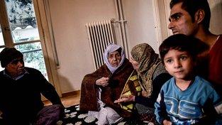 Rodina syrských uprchlíků