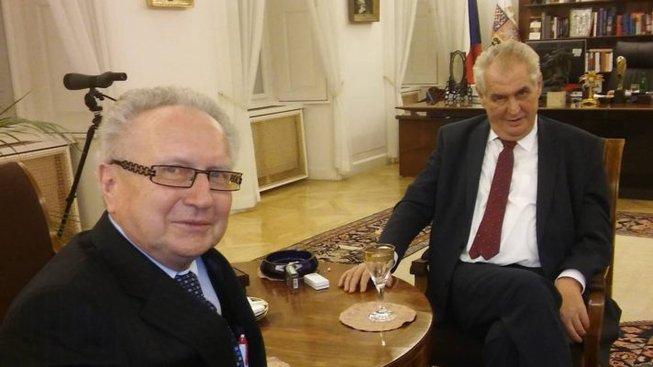 Miloš Zeman a Jan Veleba