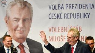 Miloš Zeman po svém vítězství