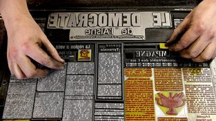 Týdeník Démocrate de l'Aisne je jediným, který se v Evropě tiskne strojní sazbou